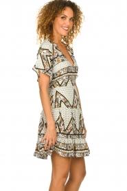 Silvian Heach |  Printed dress Yebbibu | white  | Picture 4