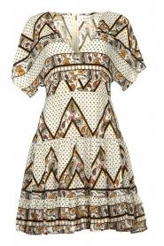 Silvian Heach |  Printed dress Yebbibu | white  | Picture 1