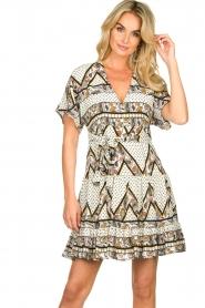 Silvian Heach |  Printed dress Yebbibu | white  | Picture 6