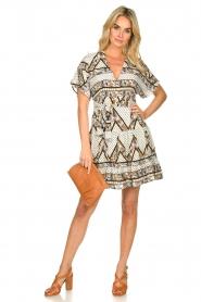 Silvian Heach |  Printed dress Yebbibu | white  | Picture 3
