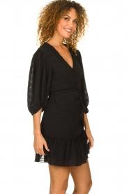 Silvian Heach |  Wrap dress Pumalanga | black  | Picture 6