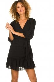 Silvian Heach |  Wrap dress Pumalanga | black  | Picture 2