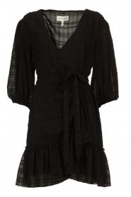 Silvian Heach |  Wrap dress Pumalanga | black  | Picture 1