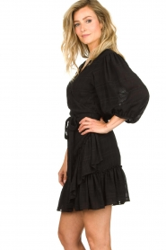 Silvian Heach |  Wrap dress Pumalanga | black  | Picture 5