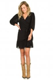 Silvian Heach |  Wrap dress Pumalanga | black  | Picture 3