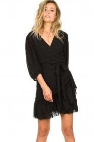 Silvian Heach |  Wrap dress Pumalanga | black  | Picture 4