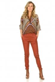 Est-Seven |  Leather leggings Amber | burned orange  | Picture 3