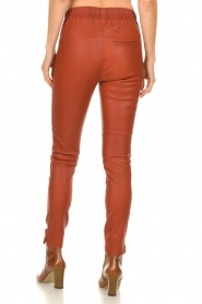 Est-Seven |  Leather leggings Amber | burned orange  | Picture 6