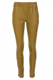 Est-Seven |  Leather leggings Amber | gold  | Picture 1
