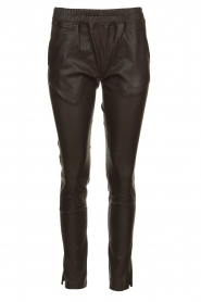 Est-Seven |  Leather legging  Amber | brown  | Picture 1