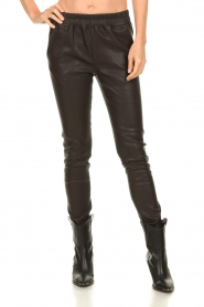 Est-Seven |  Leather legging  Amber | brown  | Picture 2