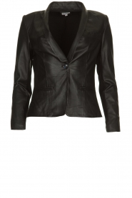 Est-Seven |  Leather blazer Colombre | black  | Picture 1