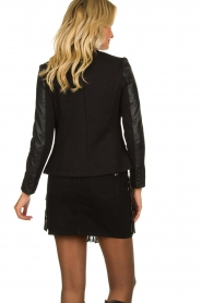Est-Seven |  Leather blazer Colombre | black  | Picture 5