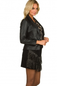 Est-Seven |  Leather blazer Colombre | black  | Picture 4