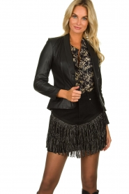 Est-Seven |  Leather blazer Colombre | black  | Picture 2