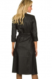 Est-Seven |  Leather wrap dress Ella | black  | Picture 5