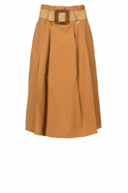 Silvian Heach |  Pleated skirt Ilbark | brown  | Picture 1