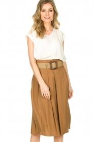 Silvian Heach |  Pleated skirt Ilbark | brown  | Picture 2