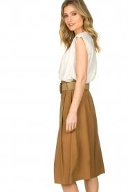 Silvian Heach |  Pleated skirt Ilbark | brown  | Picture 4