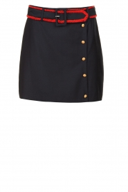 Silvian Heach |  Skirt with beaded belt Barsa | blue  | Picture 1