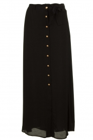Silvian Heach |  Maxi skirt with belt | black  | Picture 1