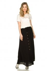 Silvian Heach |  Maxi skirt with belt | black  | Picture 4