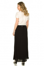 Silvian Heach |  Maxi skirt with belt | black  | Picture 6