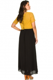 Silvian Heach |  Maxi skirt with belt | black  | Picture 5