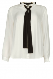 Silvian Heach |  Blouse with bow detail Bekiri | white  | Picture 1