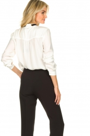 Silvian Heach |  Blouse with bow detail Bekiri | white  | Picture 6