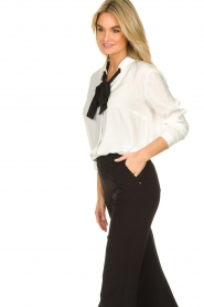 Silvian Heach |  Blouse with bow detail Bekiri | white  | Picture 5