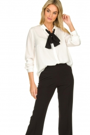 Silvian Heach |  Blouse with bow detail Bekiri | white  | Picture 2