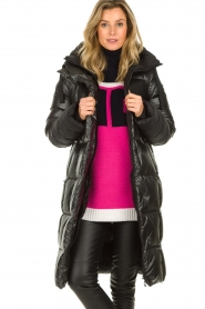 Goldbergh |  Long down jacket Gisunn | black  | Picture 2
