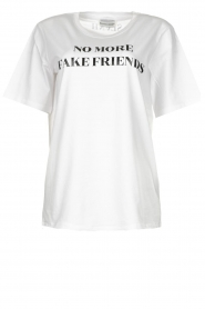 Silvian Heach |  T-shirt with text print Gabu | white  | Picture 1