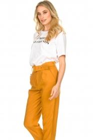 Silvian Heach |  T-shirt with text print Gabu | white  | Picture 5