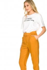 Silvian Heach |  T-shirt with text print Gabu | white  | Picture 6