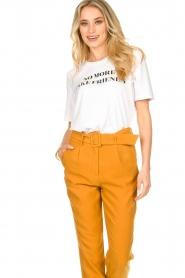 Silvian Heach |  T-shirt with text print Gabu | white  | Picture 2