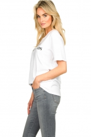 Silvian Heach |  T-shirt with text print Gabu | white  | Picture 5
