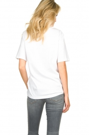 Silvian Heach |  T-shirt with text print Gabu | white  | Picture 6