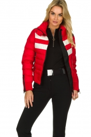 Goldbergh |  Ski down jacket Eydis | red  | Picture 2