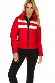 Goldbergh |  Ski down jacket Eydis | red  | Picture 6