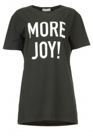 Silvian Heach |  Oversized T-shirt with text print Mapputo | grey  | Picture 1
