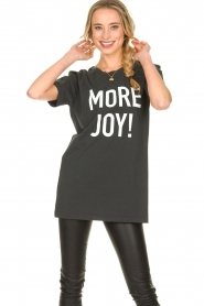 Silvian Heach |  Oversized T-shirt with text print Mapputo | grey  | Picture 5