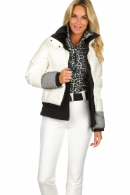 Goldbergh |  Ski jacket with down Skina | white  | Picture 2