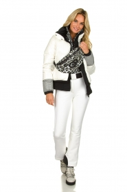 Goldbergh |  Ski jacket with down Skina | white  | Picture 3