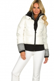 Goldbergh |  Ski jacket with down Skina | white  | Picture 4