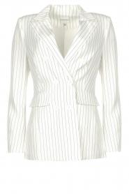 Silvian Heach |  Pinstripe blazer Mioto | white  | Picture 1