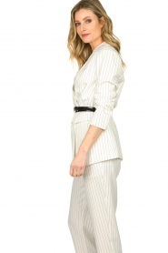 Silvian Heach |  Pinstripe blazer Mioto | white  | Picture 5
