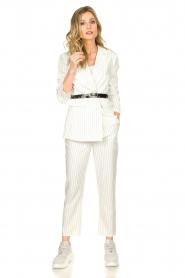 Silvian Heach |  Pinstripe blazer Mioto | white  | Picture 3