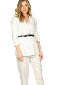 Silvian Heach |  Pinstripe blazer Mioto | white  | Picture 2